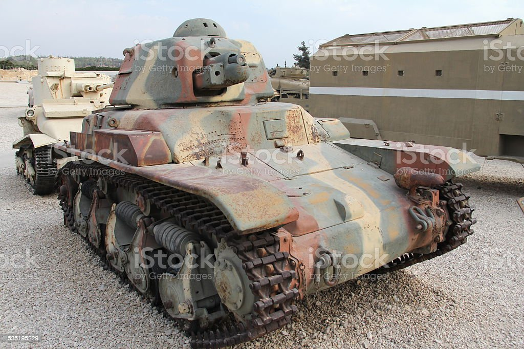 Old French light tank Renault R-35 stock photo