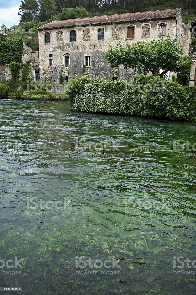 old french mill green river provence royalty-free stock photo