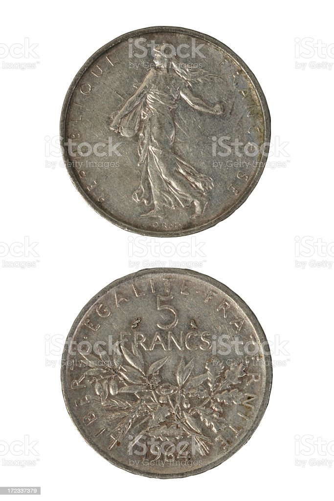 Old french money stock photo