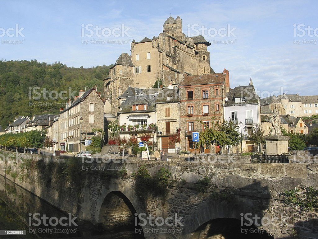 old french town royalty-free stock photo