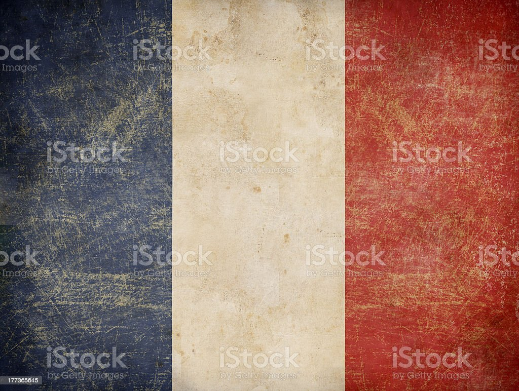 old French tricolour flag stock photo