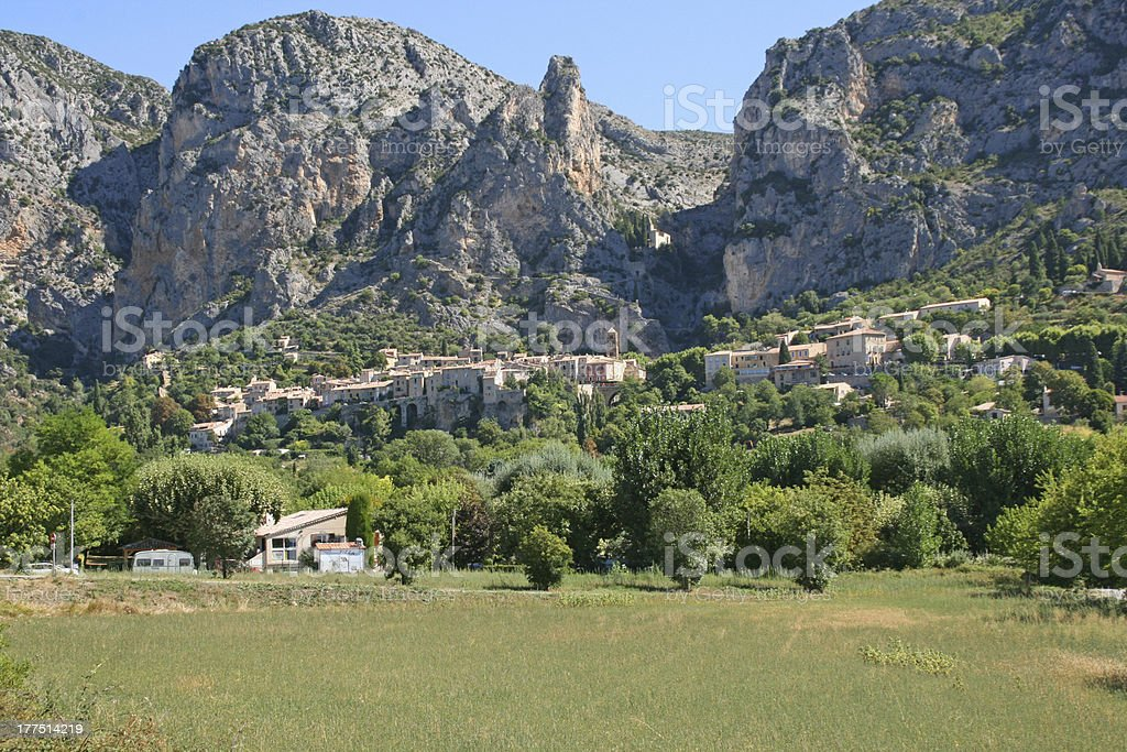 old french village of Moustiers sainte marie royalty-free stock photo