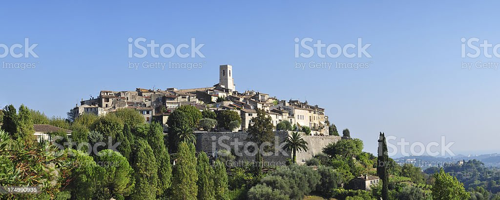 Old, French village panorama royalty-free stock photo