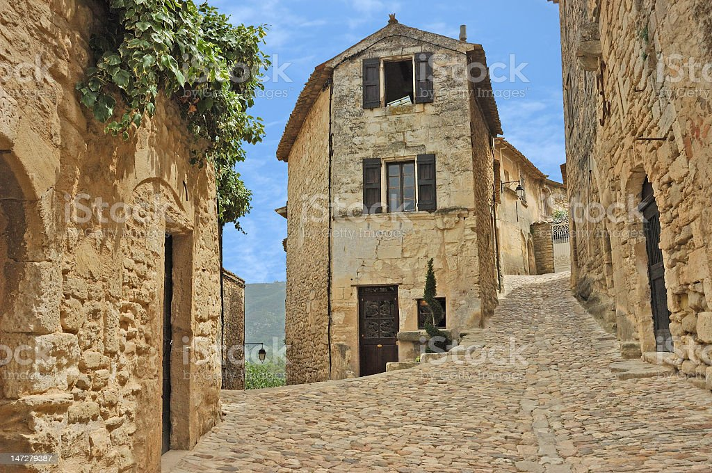 Old French Village stock photo