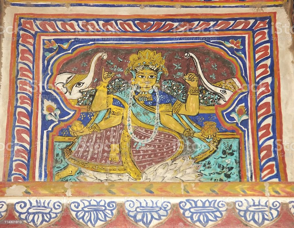 Old fresco royalty-free stock photo