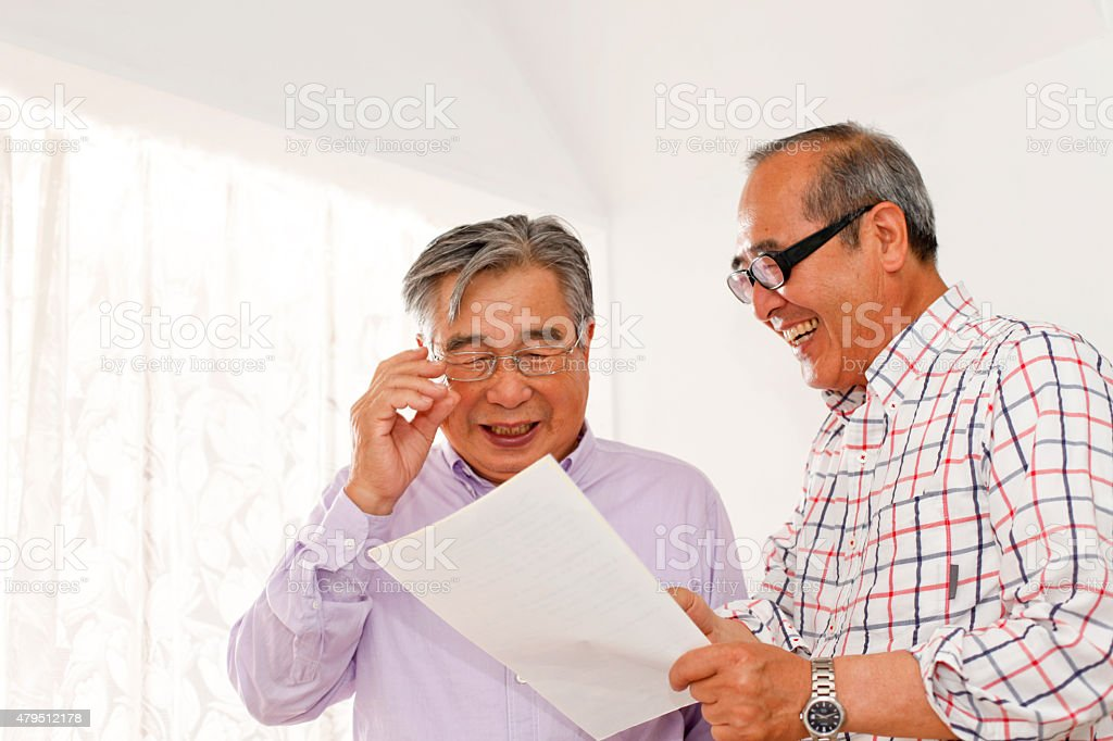 Old friend stock photo