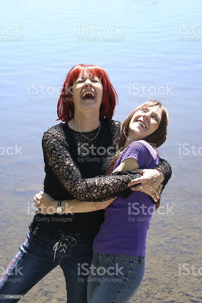 Old Friends Laughing royalty-free stock photo