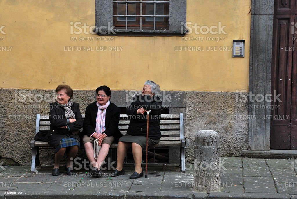 Old Friends stock photo