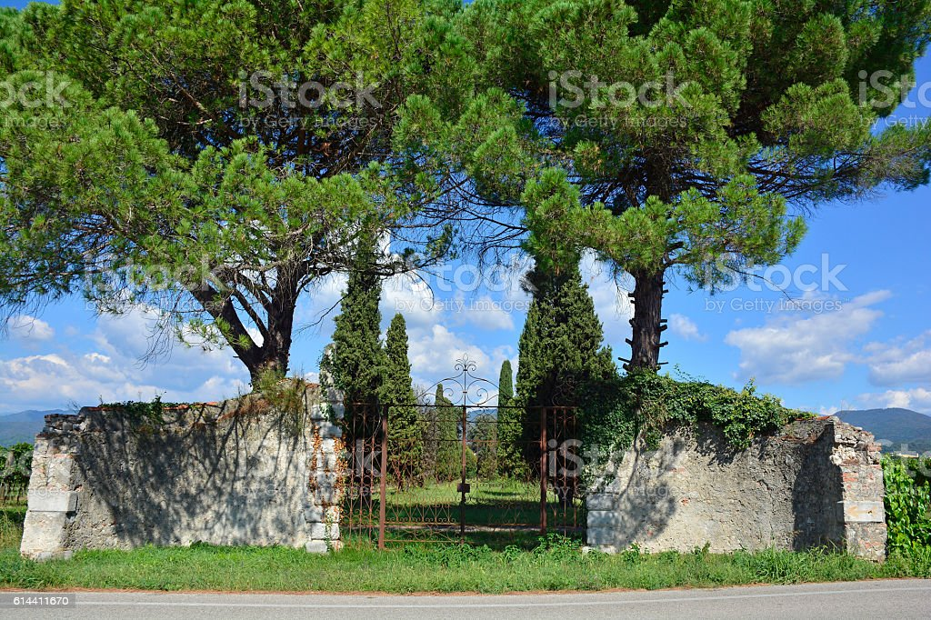 Old Friulian Gate stock photo