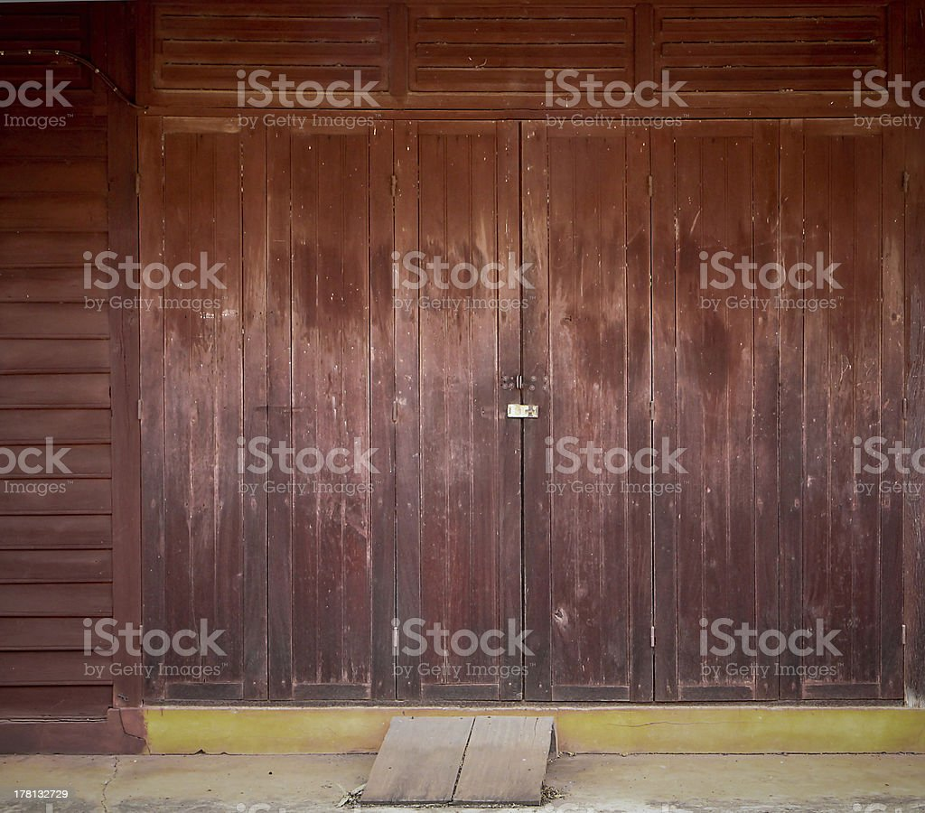 old front door thai classic royalty-free stock photo