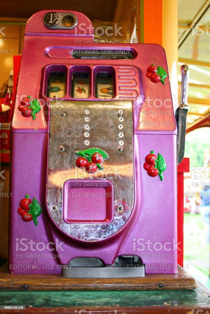 Old fruit machine stock photo