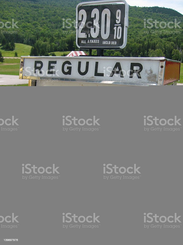 Old Fuel Pump - gas prices royalty-free stock photo
