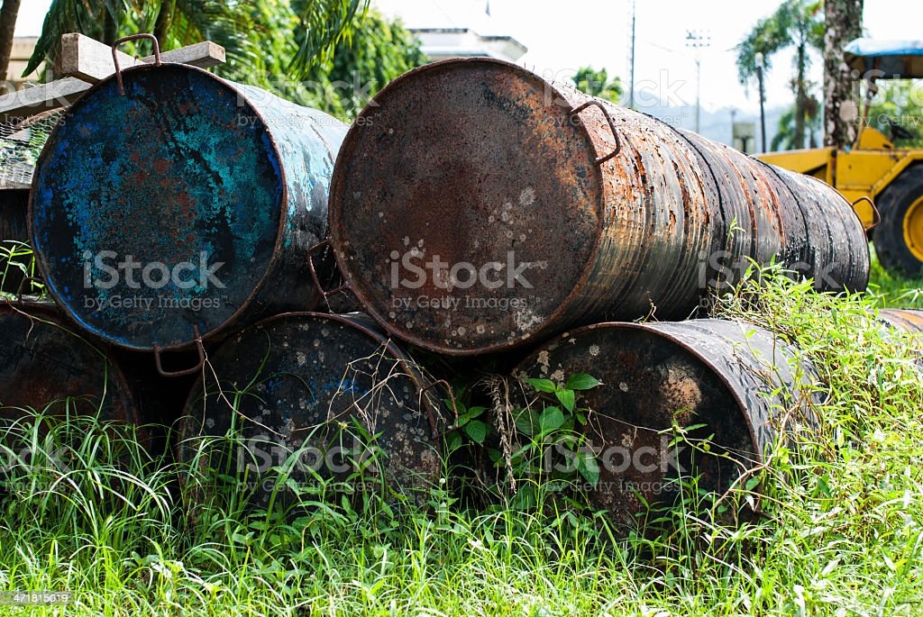 Old fuel tank royalty-free stock photo