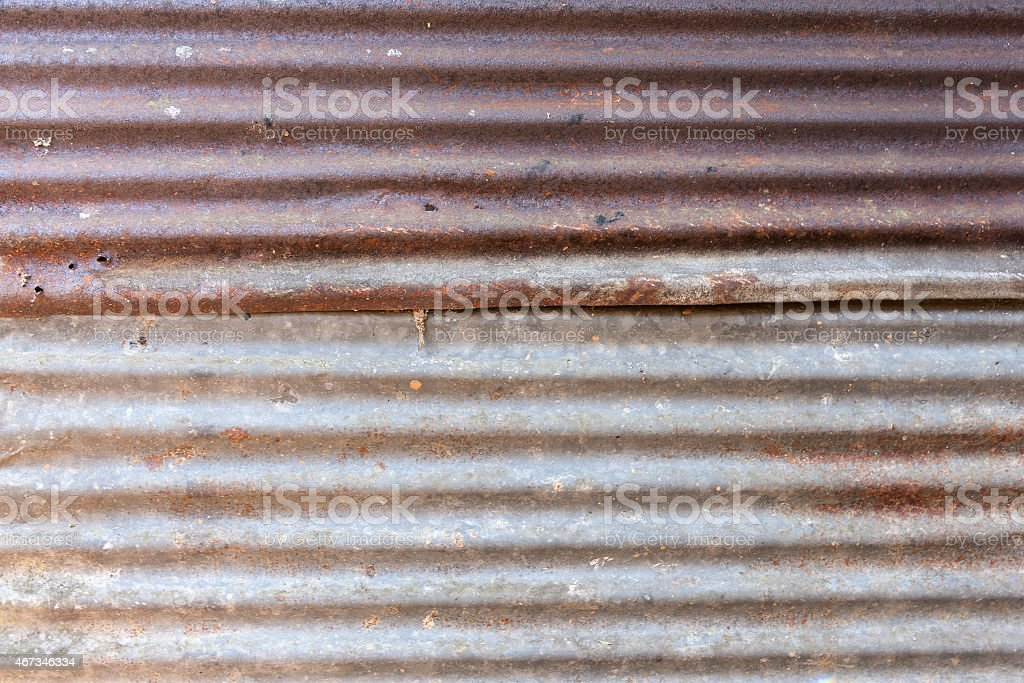 Old Galvanized Steel Wall royalty-free stock photo