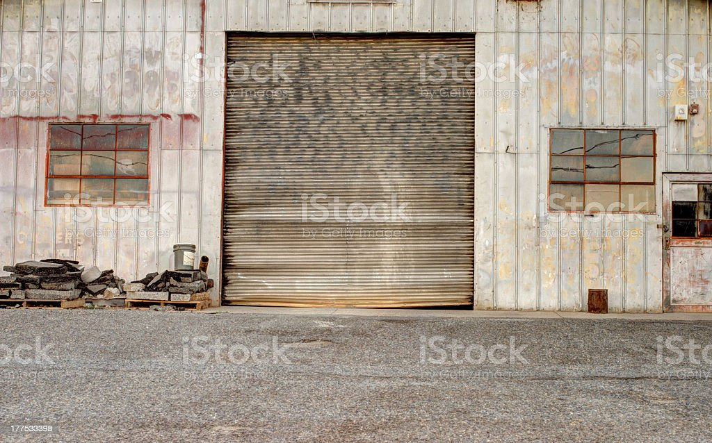 Old Garage Door royalty-free stock photo