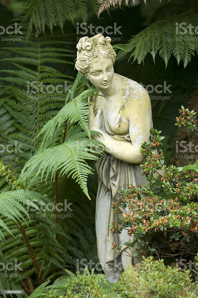 Old garden sculpture royalty-free stock photo