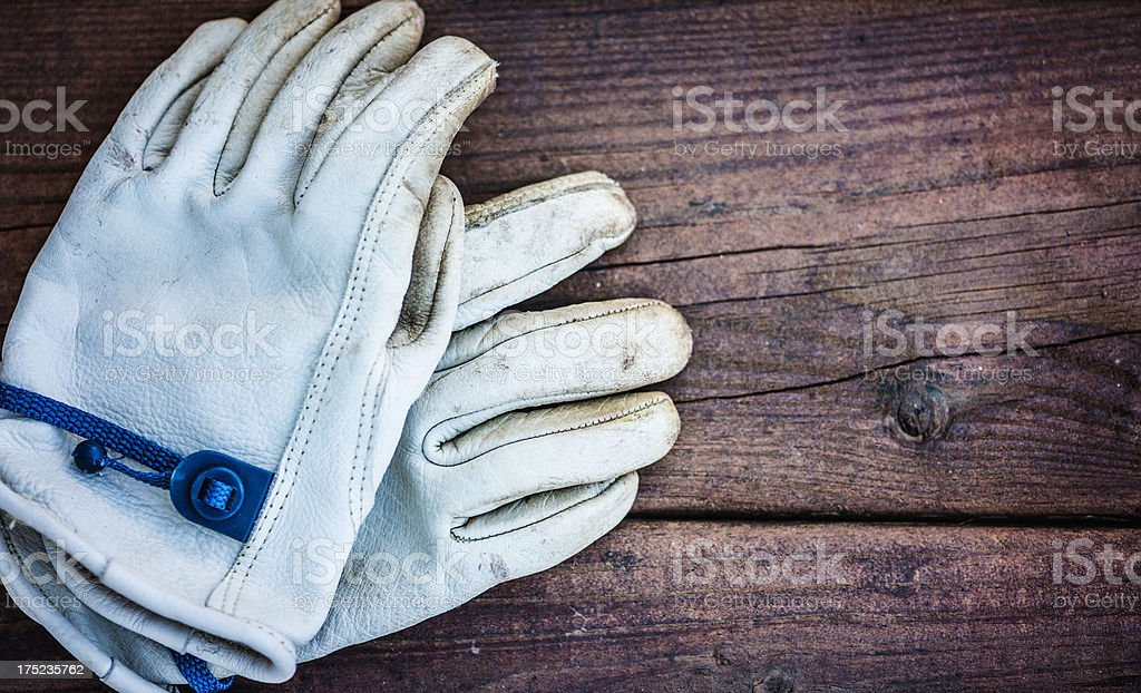 Old Gardening Gloves royalty-free stock photo