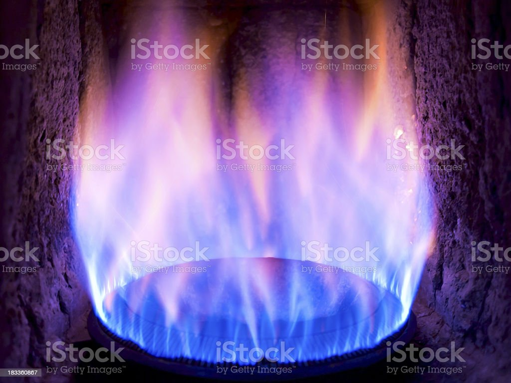Old gas burner royalty-free stock photo