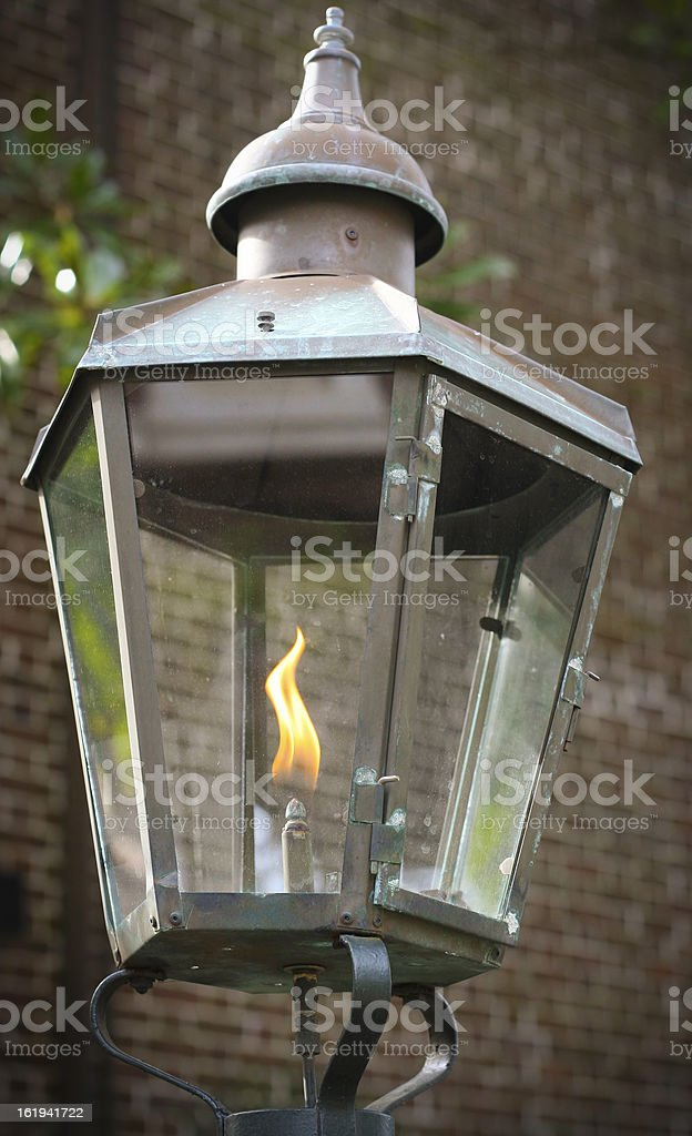 Old gas lantern royalty-free stock photo