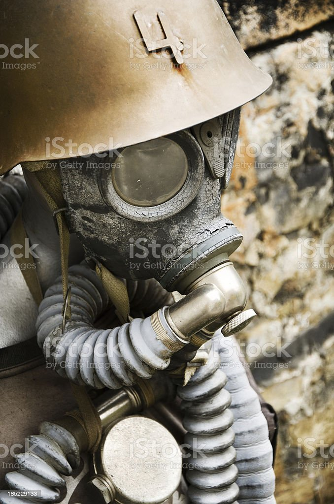Old gas mask stock photo