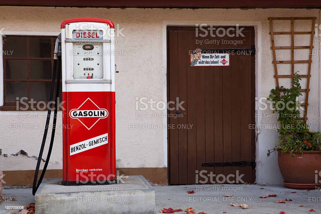 old gas pump stock photo