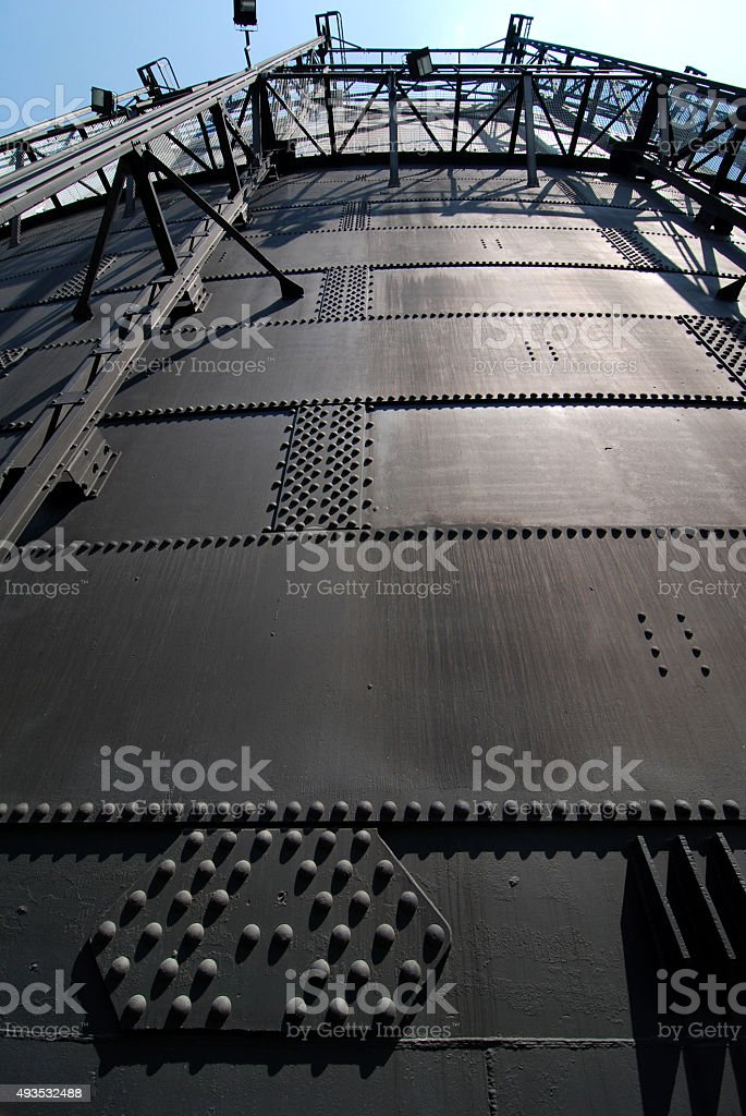 Old Gasholder stock photo