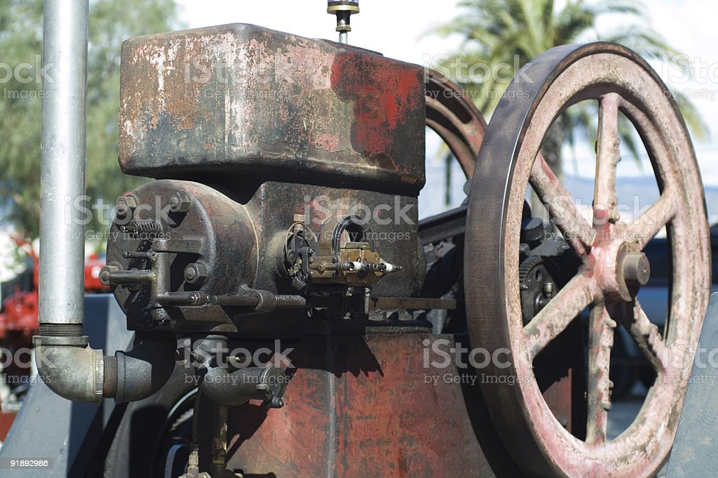 Old Gasoline Engine stock photo