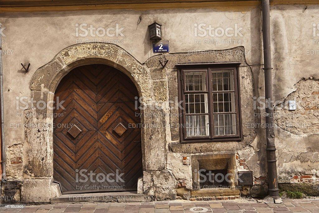 old gate in Krak?w royalty-free stock photo