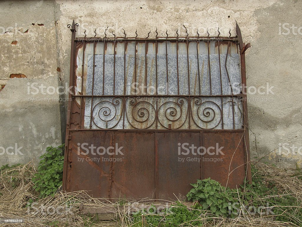 Old gate stock photo