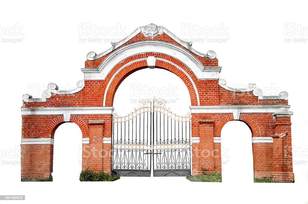 Old gates isolated royalty-free stock photo