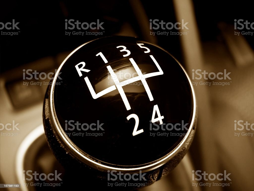 old gearshift - retro style royalty-free stock photo