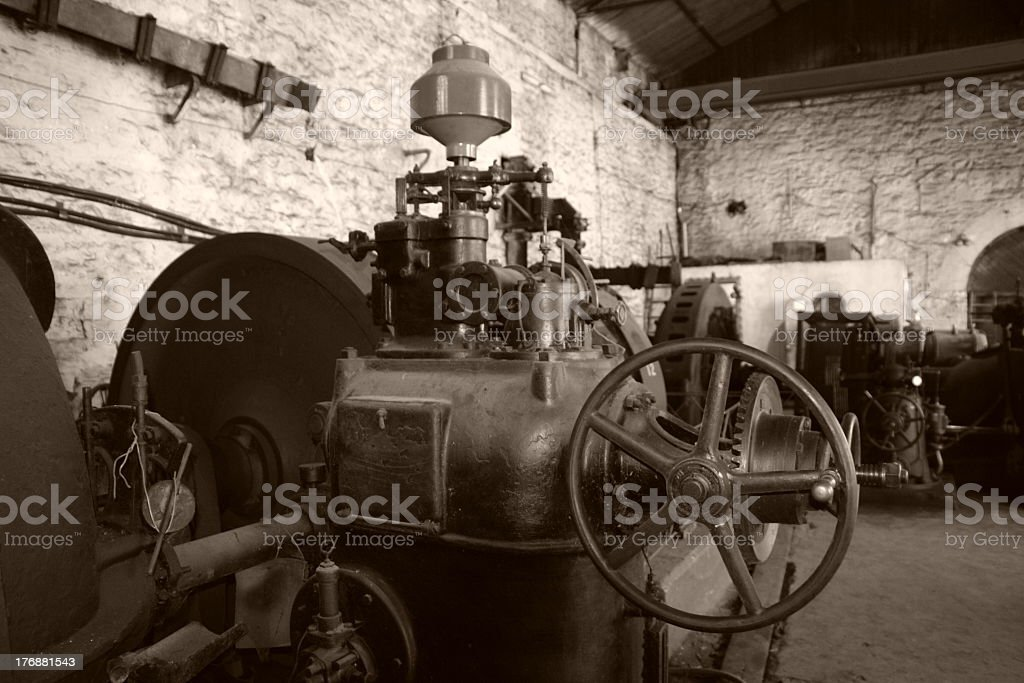Old generator room stock photo