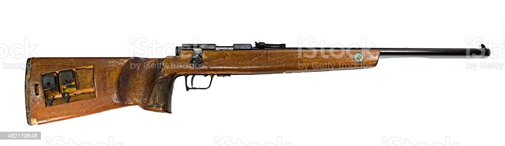 Old German carabin Mauser 98-K separated on white background stock photo