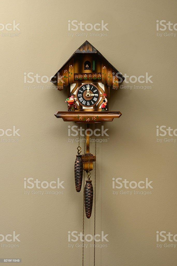 Old German Cuckoo Clock stock photo