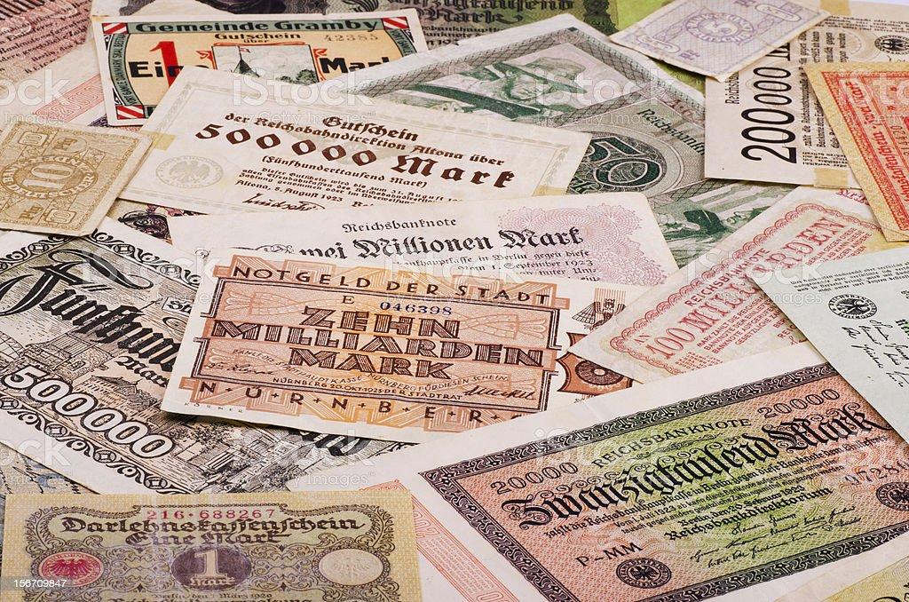 Old German money royalty-free stock photo