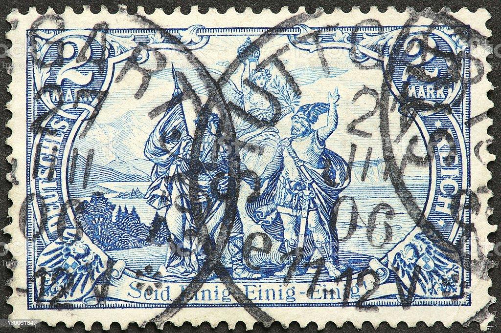 old German stamp royalty-free stock photo