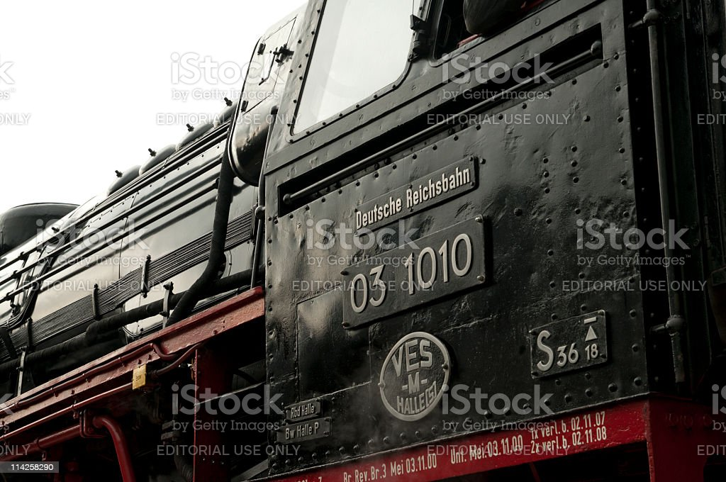 Old german steam locomotive royalty-free stock photo