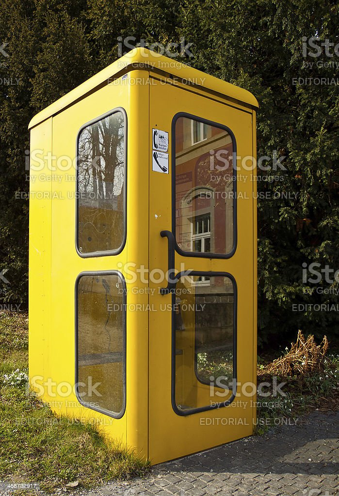 Old german telephone booth (Telefonzelle) stock photo