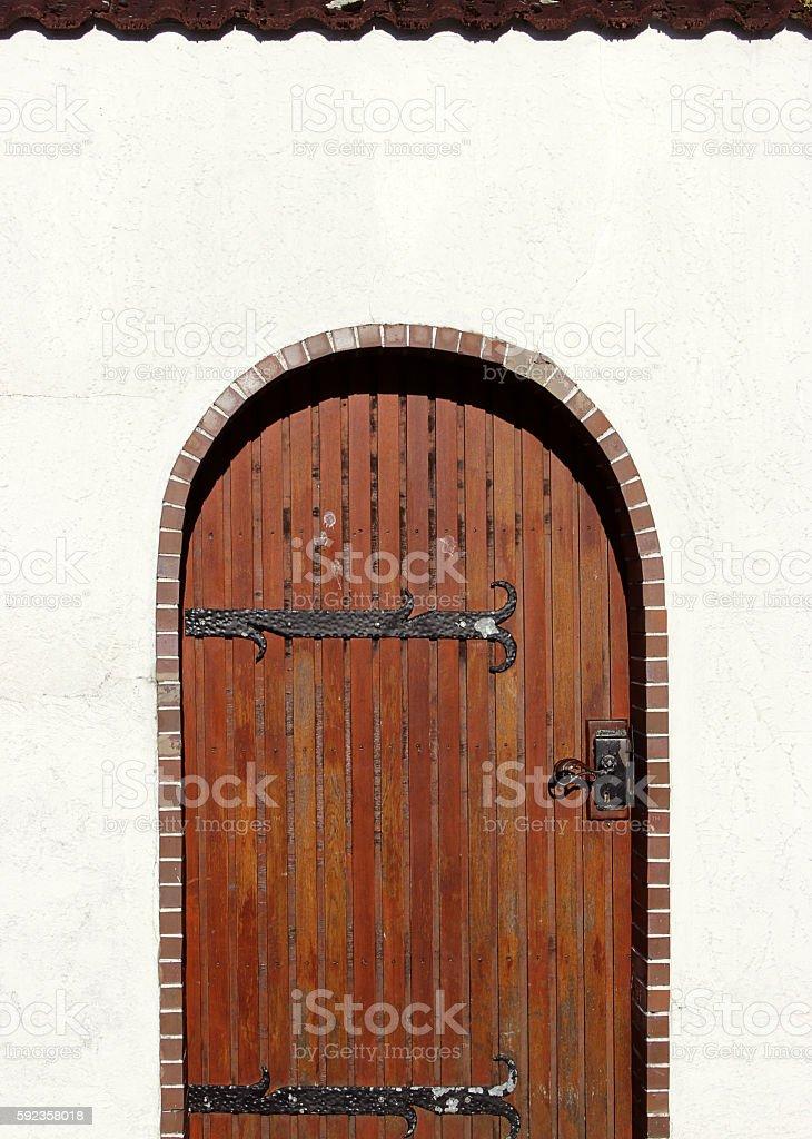 Old German Wooden Door stock photo