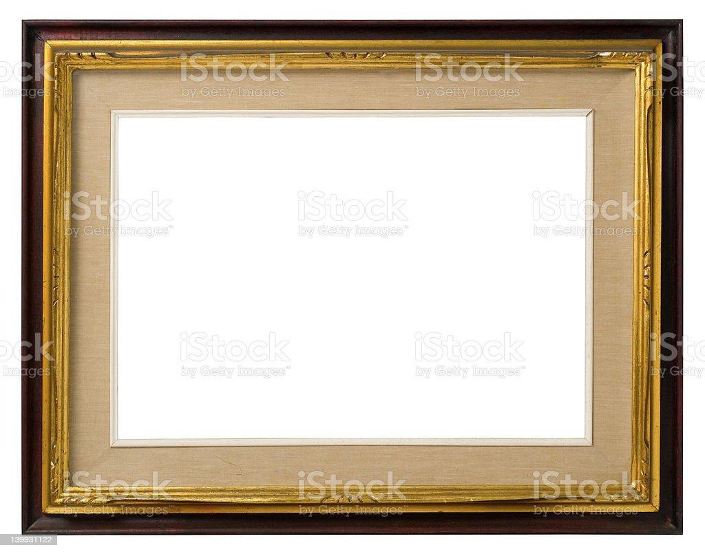 Old gilt wood frame. royalty-free stock photo