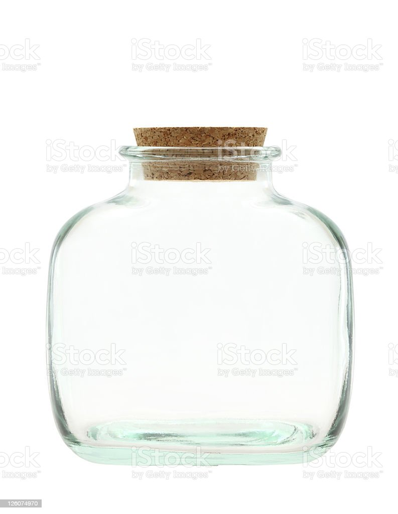 Old glass bottle royalty-free stock photo