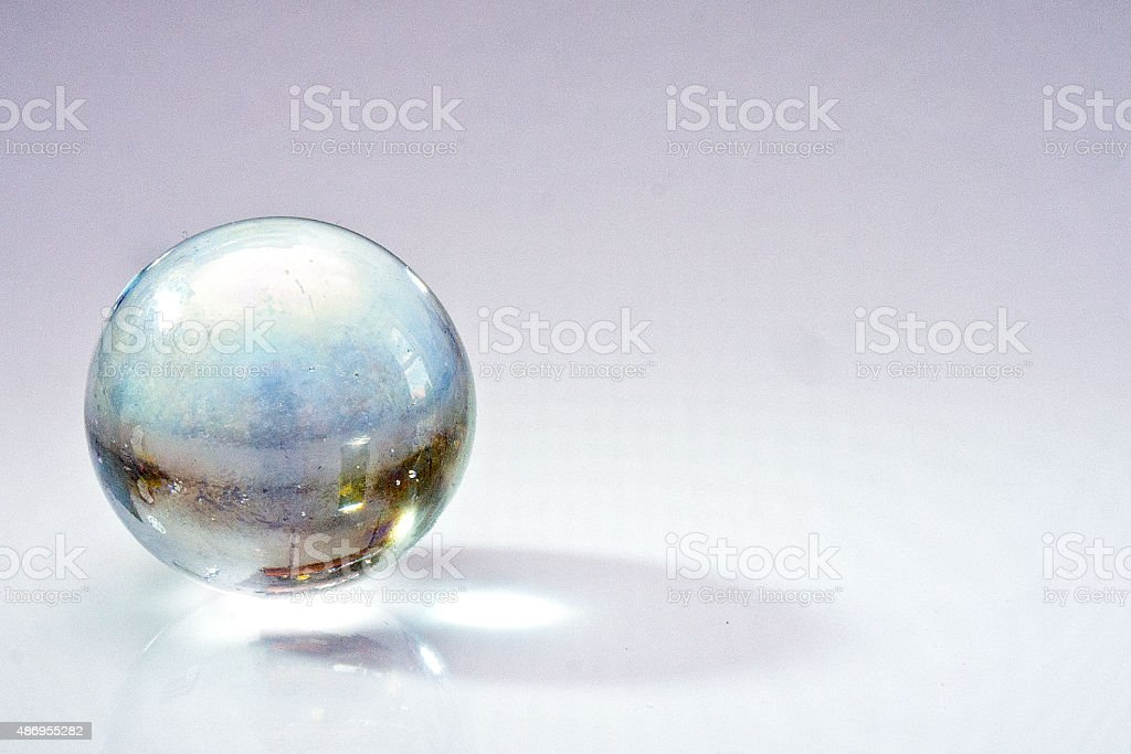 Old glass marble stock photo