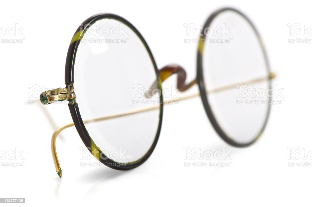 Old glasses isolated with shadow royalty-free stock photo