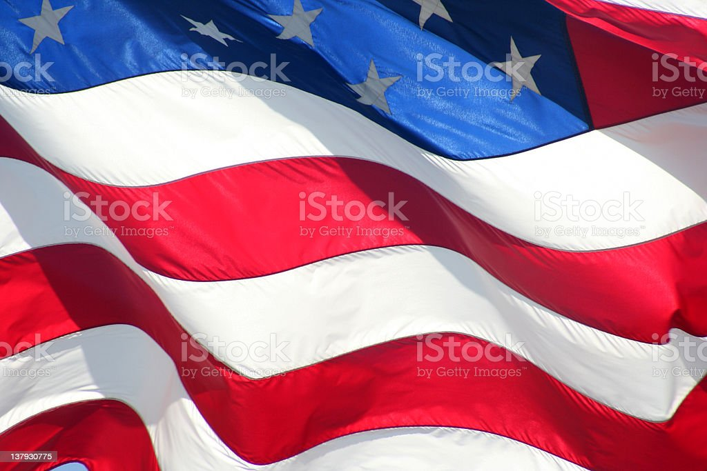 old glory american flag in the wind royalty-free stock photo