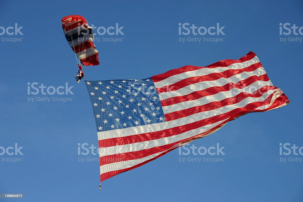 Old Glory Arrives stock photo