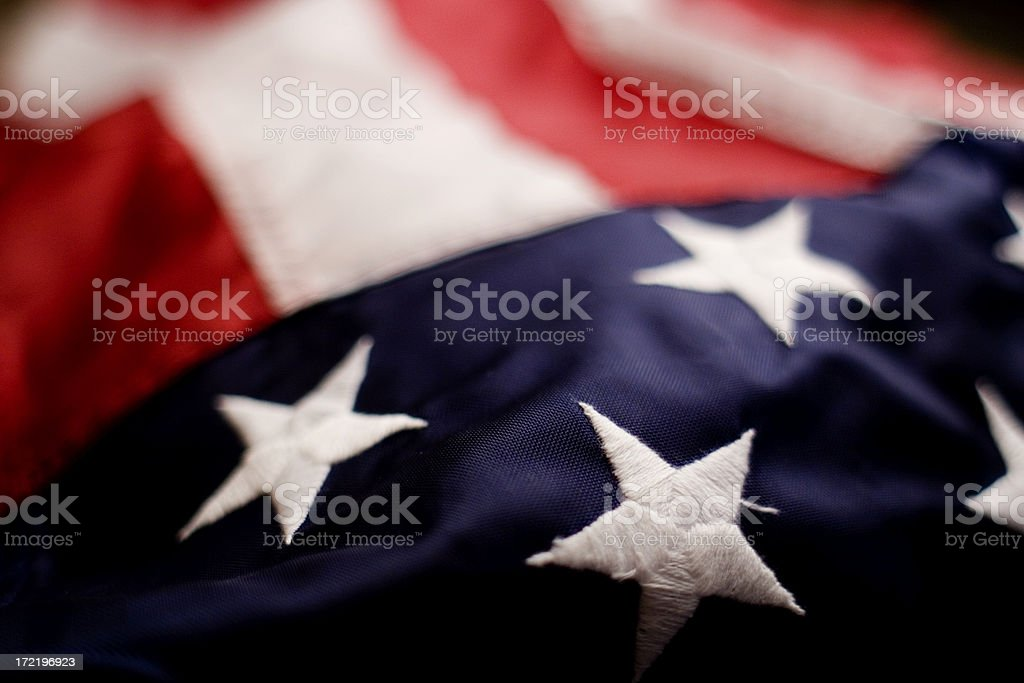 Old Glory Close Up royalty-free stock photo