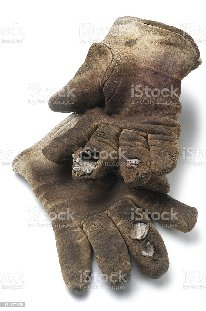 Old Gloves royalty-free stock photo