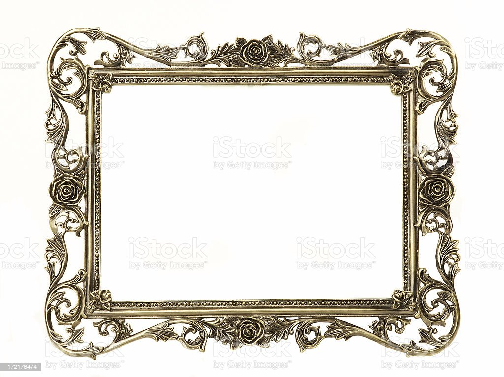 Old gold frame royalty-free stock photo