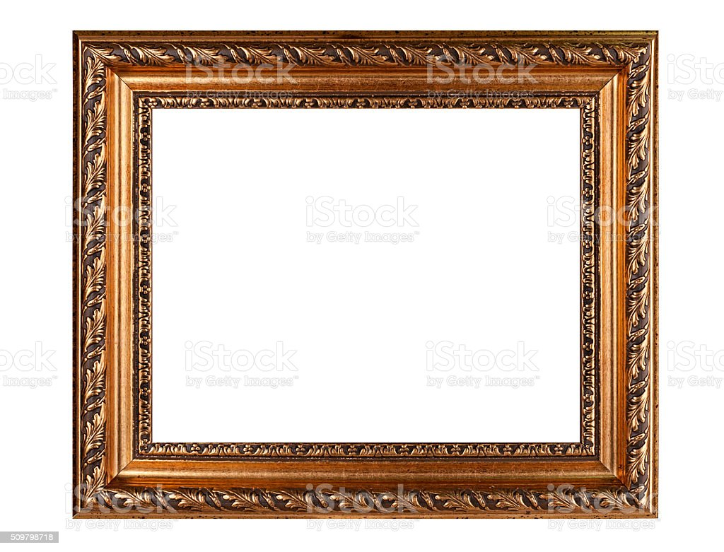 Old gold frame stock photo
