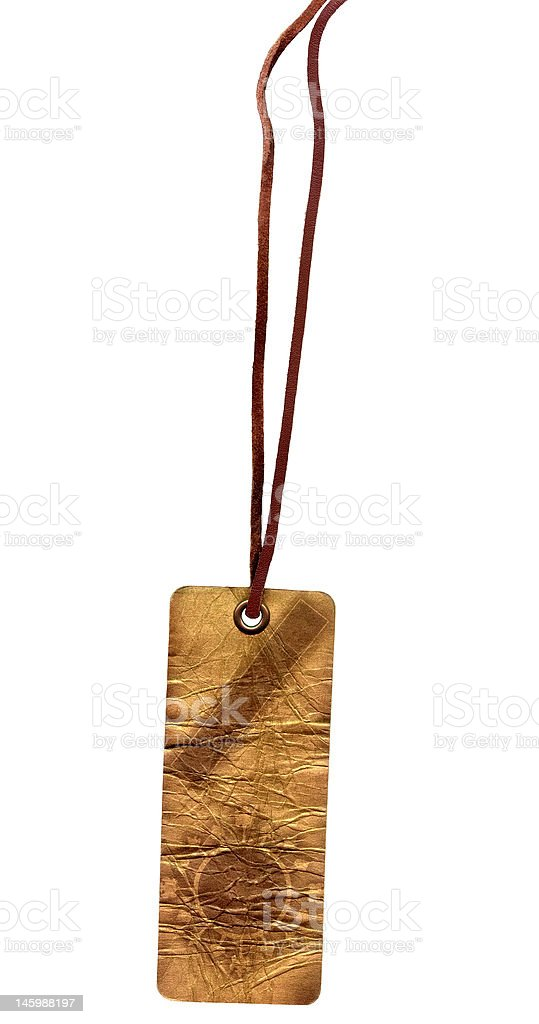 Old gold glam ornament carton label royalty-free stock photo